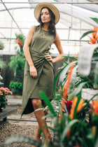 olive green dress bohme