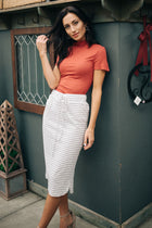 Striped Midi Skirt Bohme