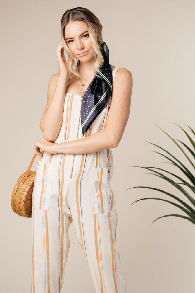 striped jumpsuit bohme