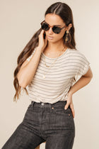 taupe striped tee bohme
