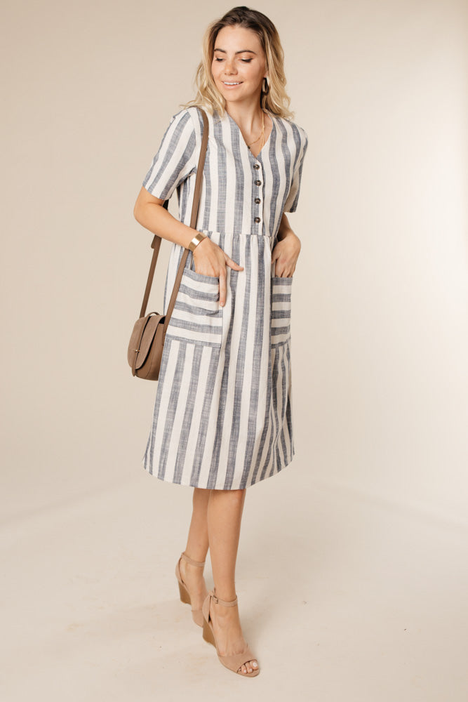 Avenue Striped Dress