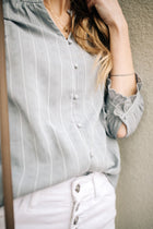 stripe button down bohme