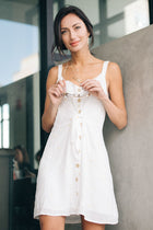 White Mini Dress Bohme