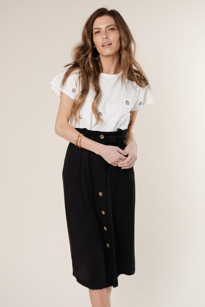 Black Midi Skirt Bohme