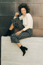 Lush High Waist Plaid Culottes - Bohme