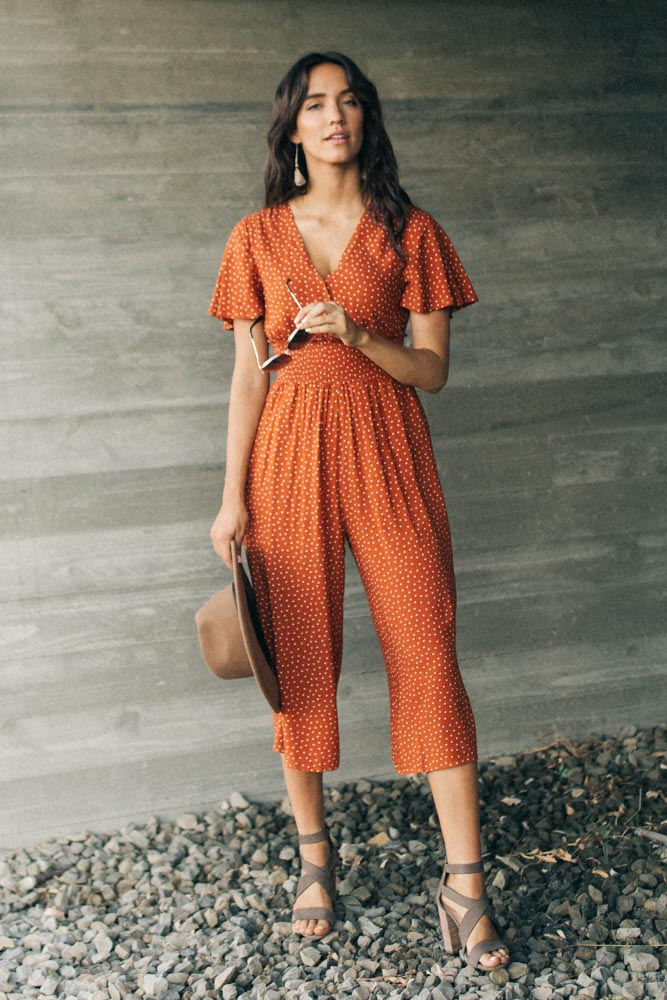 Allegra Polka Dot Culotte Jumpsuit-FINAL SALE