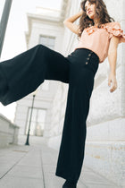 Jones Button Wide Leg Pants - Bohme
