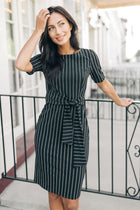 Genevieve Sheath Stripe Dress - Bohme