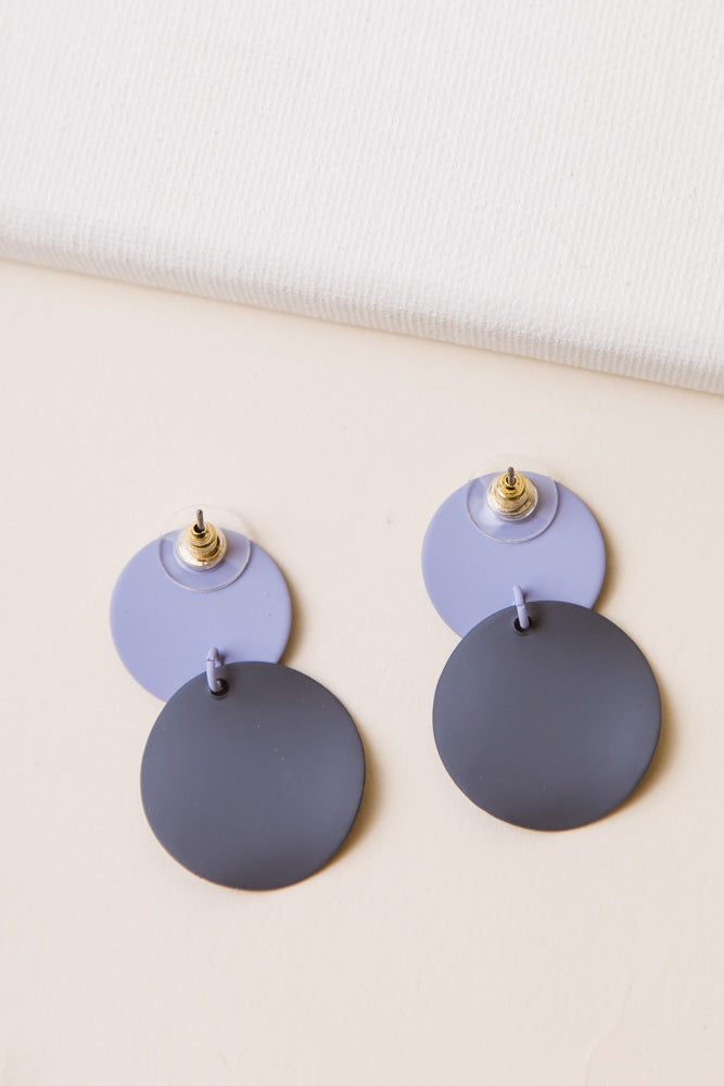 Water Drop Circle Earrings