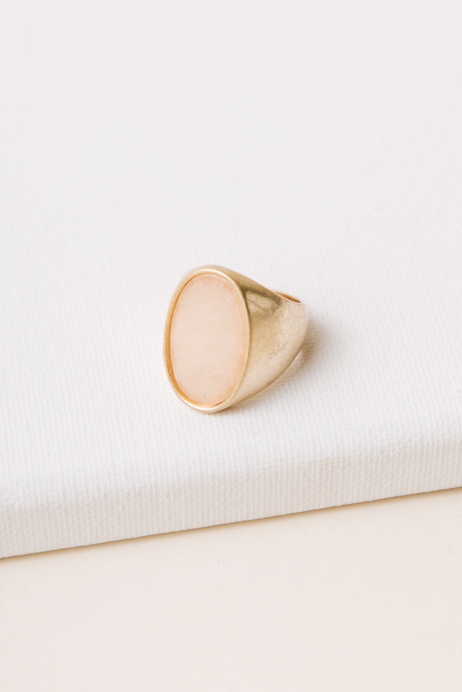 Claude Stone Ring in Pink