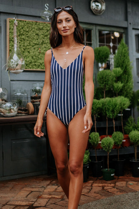 Roxy Striped Beach Classics One Piece