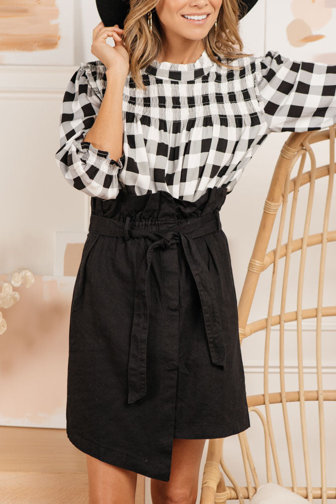 Seville Paperbag Skirt in Black