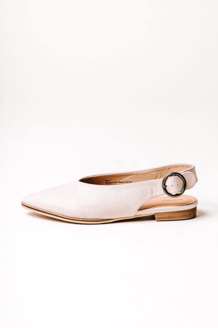 Delta Pointed Flats in Beige - FINAL SALE