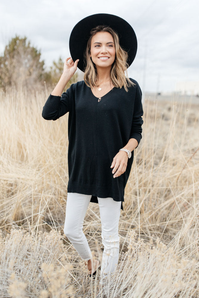 The Weekender Sweater in Black