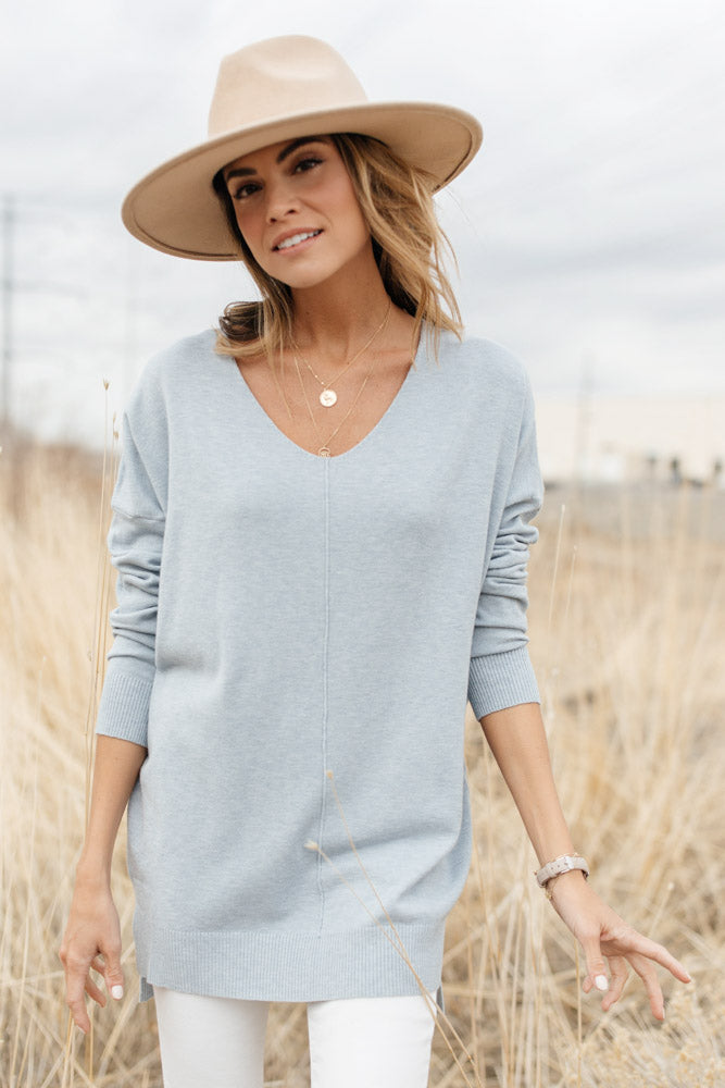 The Weekender Sweater in Blue