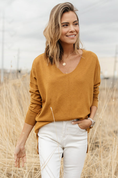 The Weekender Sweater in Mustard