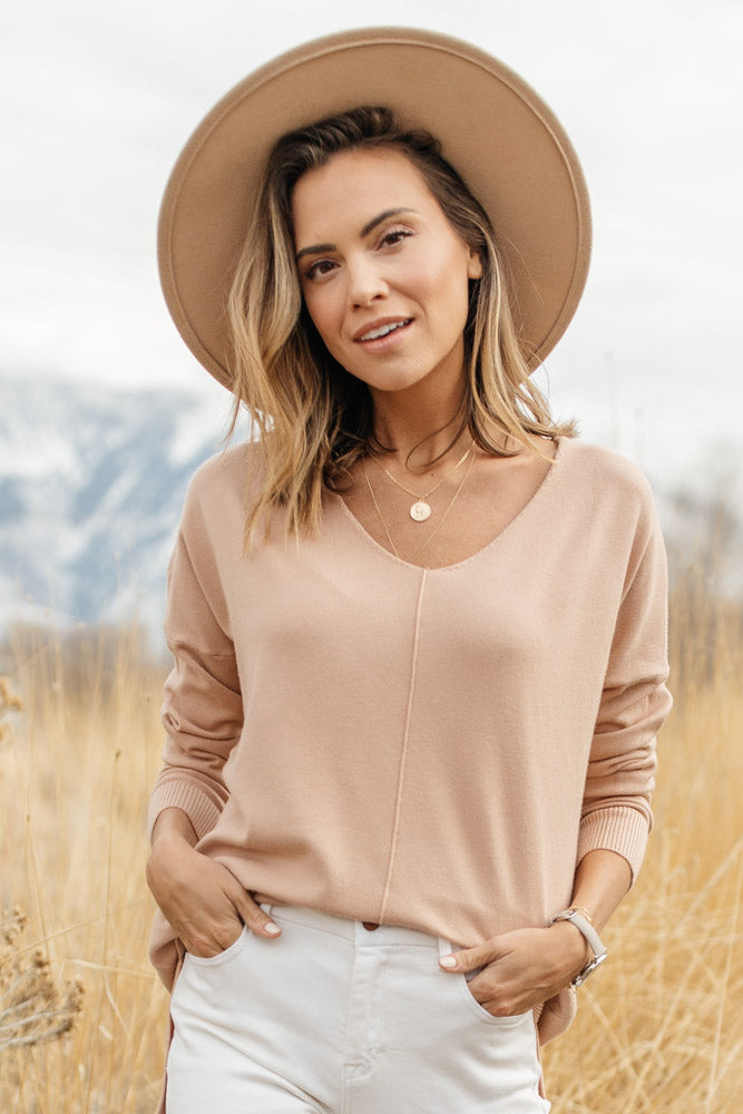 The Weekender Sweater in Blush