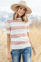Jessica Striped Knit Top