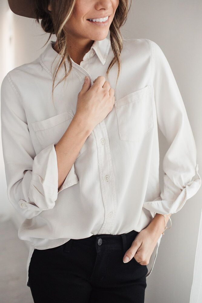 Risky Business Button Up Top