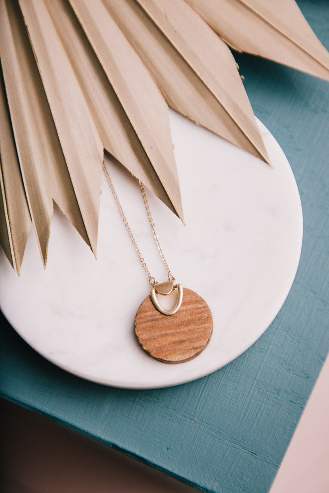 Wood Necklace Bohme