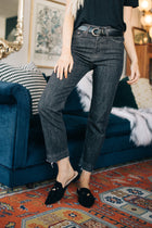 Cropped Black Denim Bohme