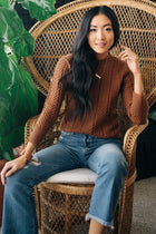 Jannie Ribbed Sweater in Rust Bohme