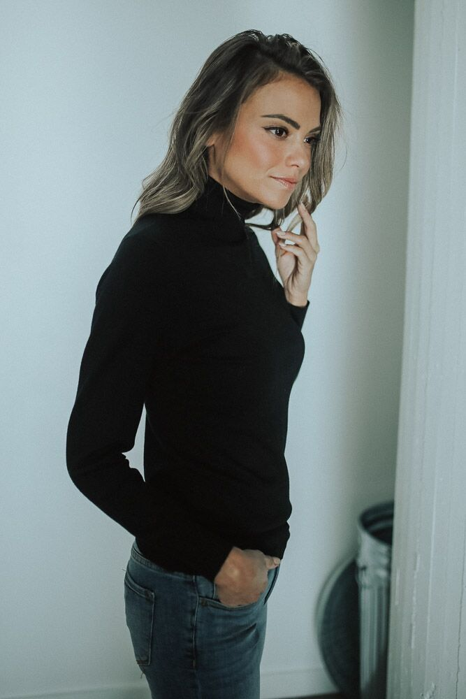 Neck and Neck Turtleneck Top - Bohme