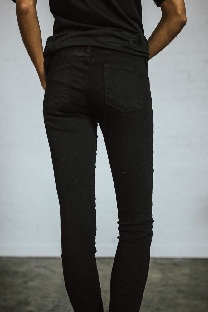 Support System Black Skinny Jeans