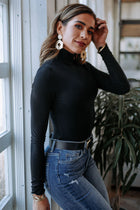 Charlie Turtleneck Top in Black