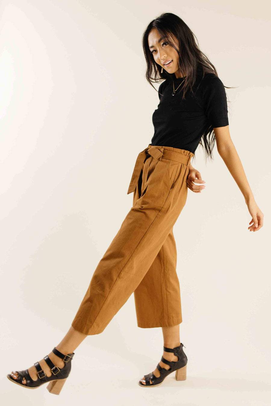 Mie Paperbag Wide Leg Pants-FINAL SALE