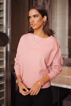 Lilian Asymmetrical Sweater in Pink