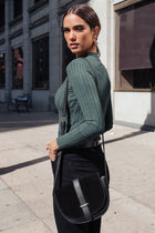 Ivy Ribbed Long Sleeve Top in Green