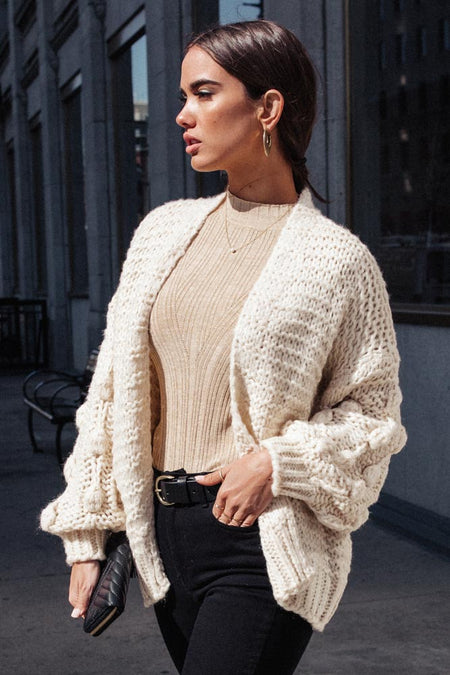 Lesley Knit Cardigan in Cream