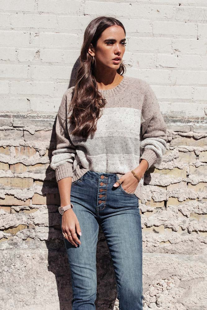 Victoria Color Block Sweater