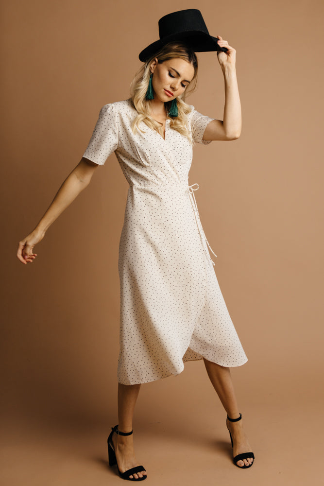 Farrah Midi Wrap Dress-FINAL SALE - Bohme