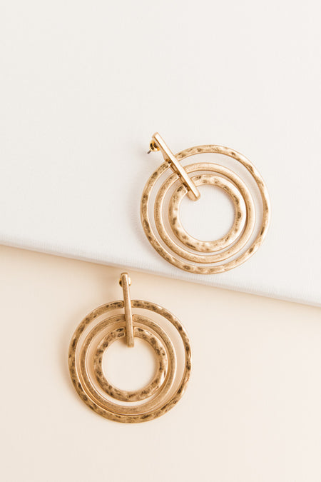 Round + Round Gold Earrings