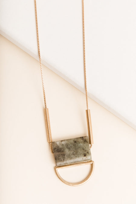 Stone Long Necklace