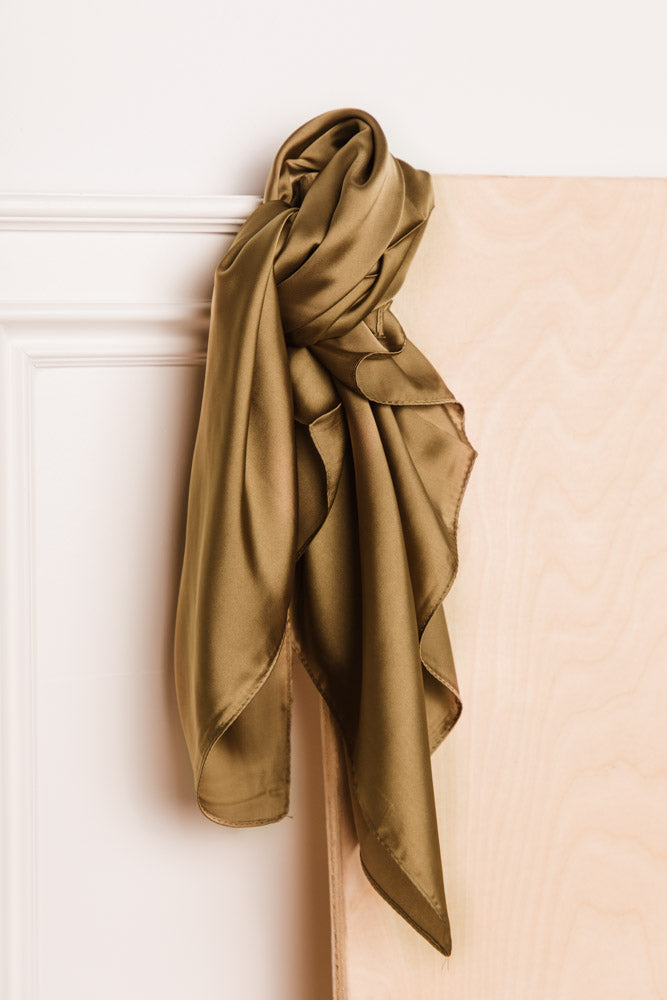 Blair Silk Scarf in Olive