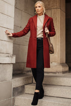 Vero Moda Moscow Coat in Burgundy-FINAL SALE
