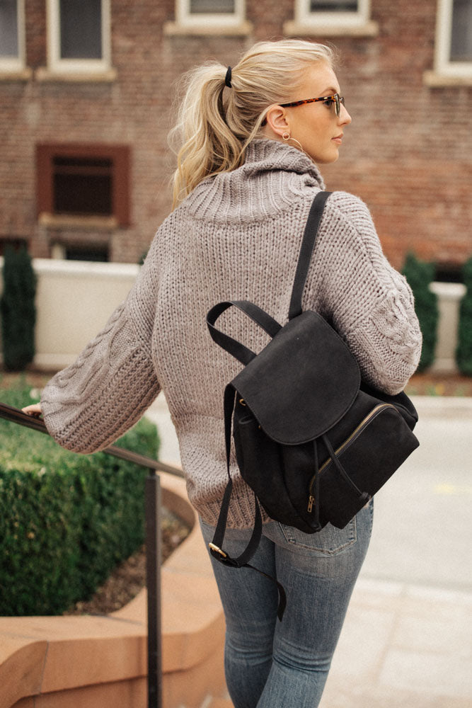 Jolene Turtleneck Sweater in Grey