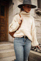 Jolene Turtleneck Sweater in Ivory
