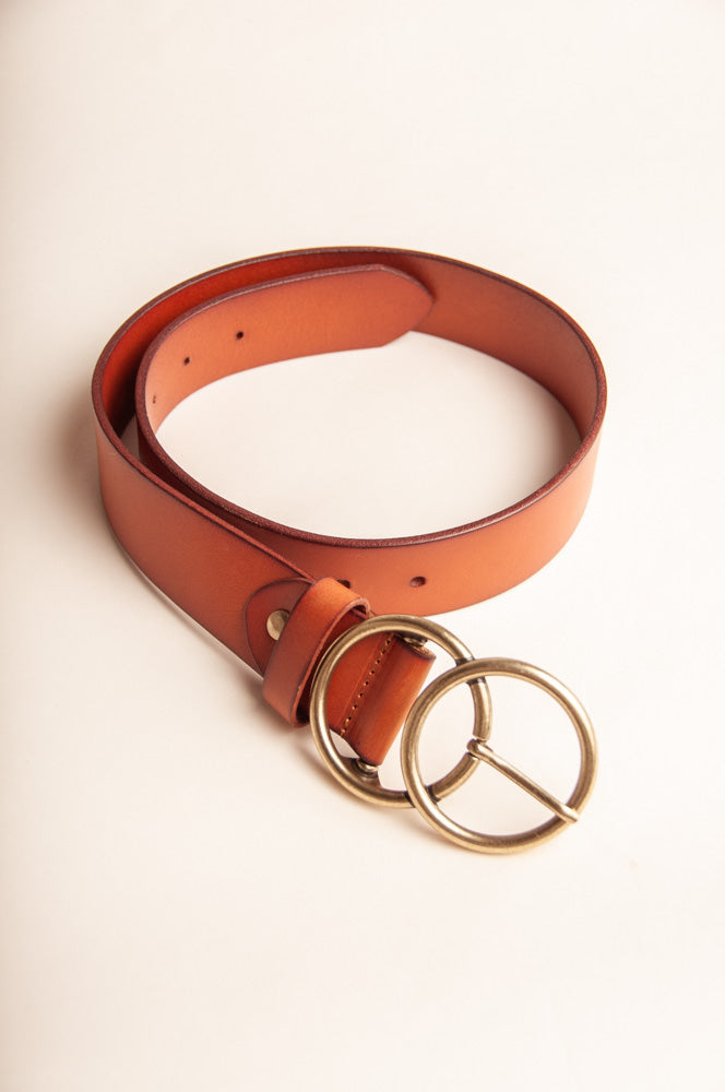 Ricky Double O Leather Belt in Brown