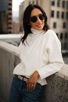 Anna Turtleneck Sweater in Cream
