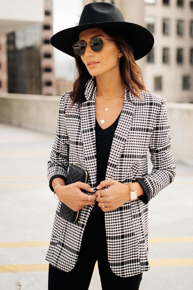 Aspyn Blazer in Houndstooth