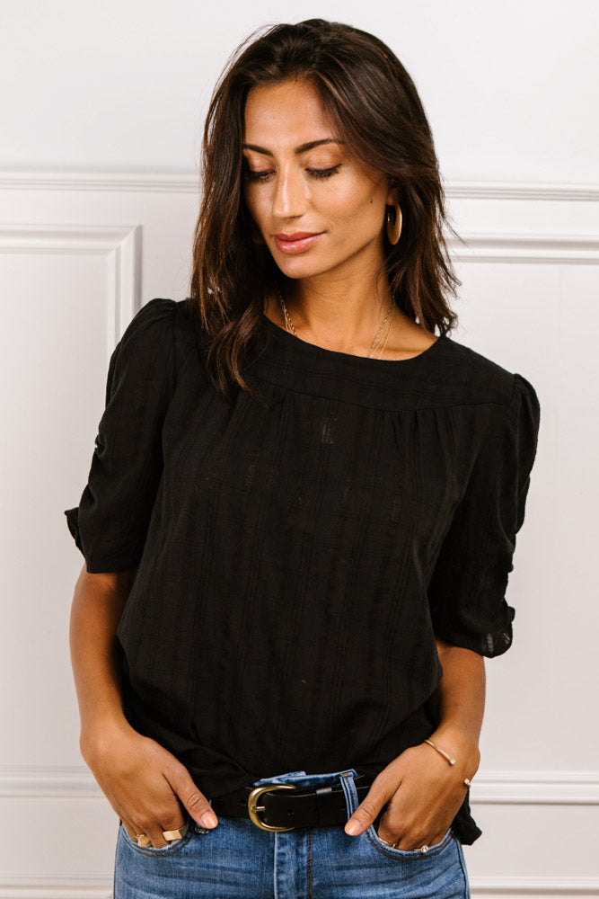 Olivia Ruched Sleeve Top