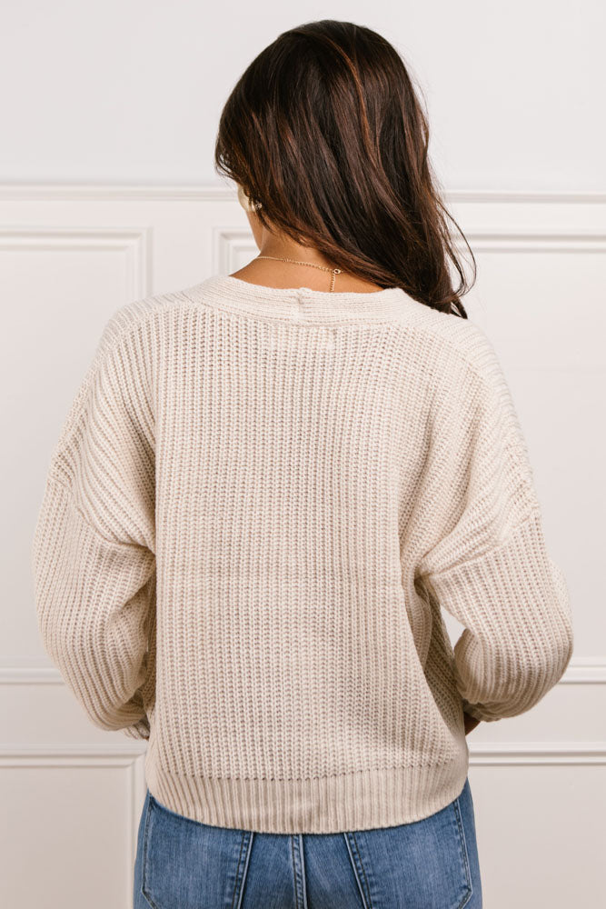 Raven Cropped Cardigan in Cream