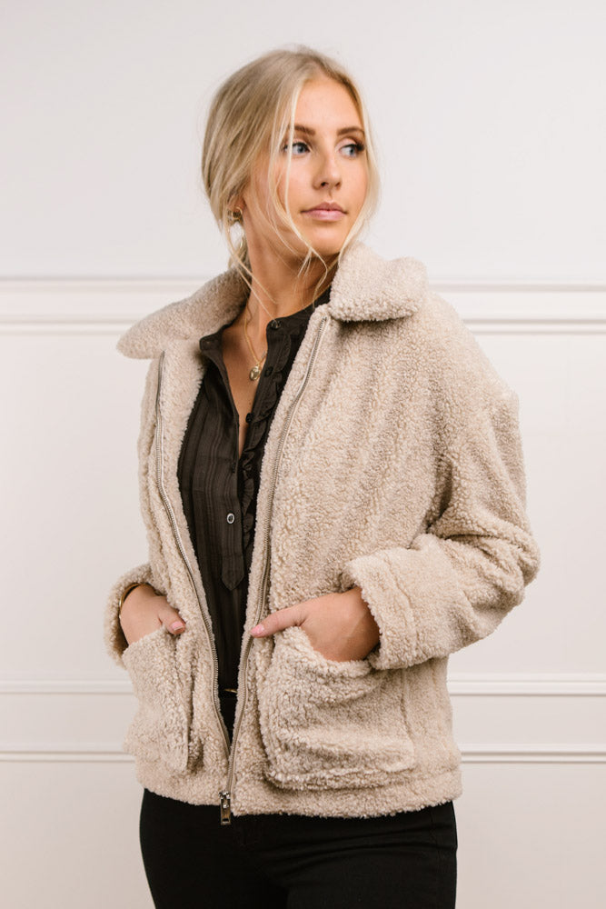 Vero Moda Nylah Teddy Jacket-FINAL SALE