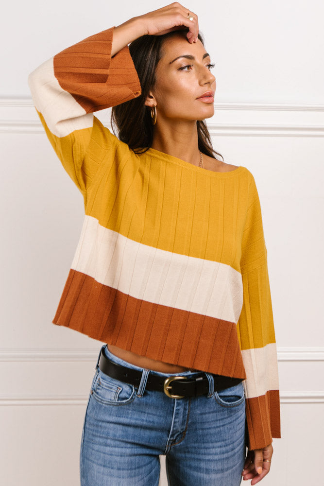 Mariah Color Block Sweater - FINAL SALE