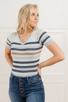Lisa Striped Sweater in Blue - FINAL SALE