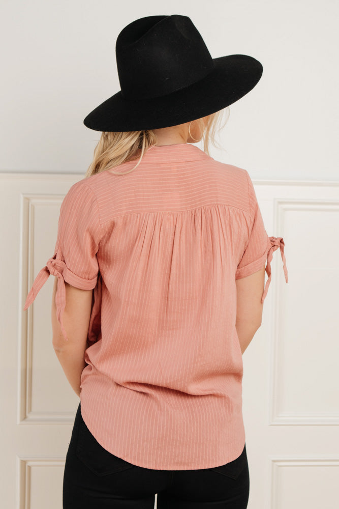 Kenley Button Down in Pink - Final Sale